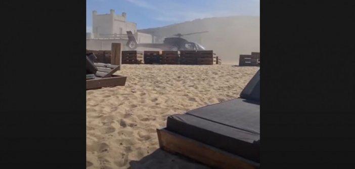 Απίστευτη εικόνα στη Μύκονο: Επιχειρηματίας προσγειώθηκε με ελικόπτερο σε beach bar (video)