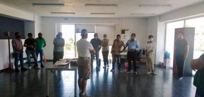 Συνάντηση για θέματα ασφάλειας και υγείας με εργαζόμενους του Δ. Ναυπακτίας