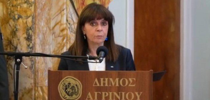 Παπαναστασίου: Βίντεο από την επισκεψη της ΠτΔ στο Αγρίνιο για τα 200 χρόνια από την απελευθέρωση