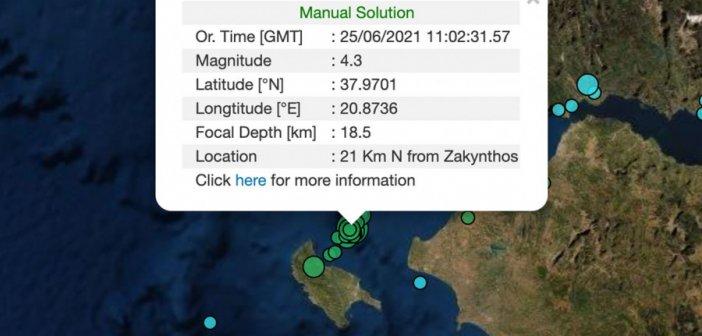 Σεισμός 4,3 R στη Ζάκυνθο