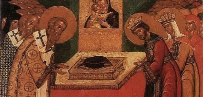 Σήμερα 02 Ιουλίου τιμάται η κατάθεση της τίμιας Εσθήτος της Θεοτόκου