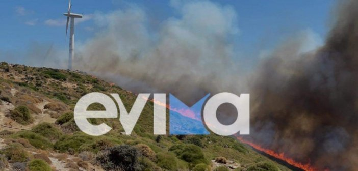 Φωτιά στα Μεσοχώρια Ευβοίας – Εκκενώνονται χωριά