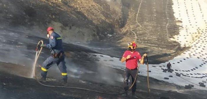 Μεσολόγγι: Στο Νοσοκομείο πυροσβέστης που συμμετείχε στην κατάσβεση της φωτιάς στον ΧΥΤΑ (ΦΩΤΟ)