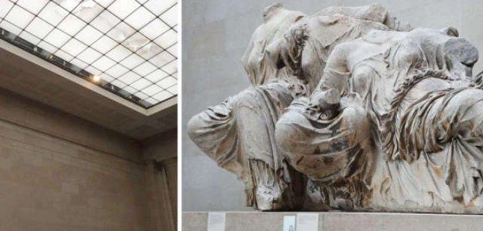 Γλυπτά Παρθενώνα: Νέες εικόνες εγκατάλειψης στο Βρετανικό Μουσείο – Μπήκε νερό από την οροφή
