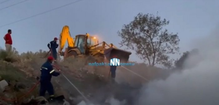 Ναυπακτία: Φωτιά στην περιοχή του Σκα – Έγκαιρη επέμβαση