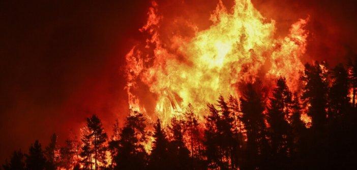 Στις φλόγες για 9η μέρα η Εύβοια – Διαρκής μάχη με τις αναζωπυρώσεις – Εφιάλτης και στην Αρκαδία