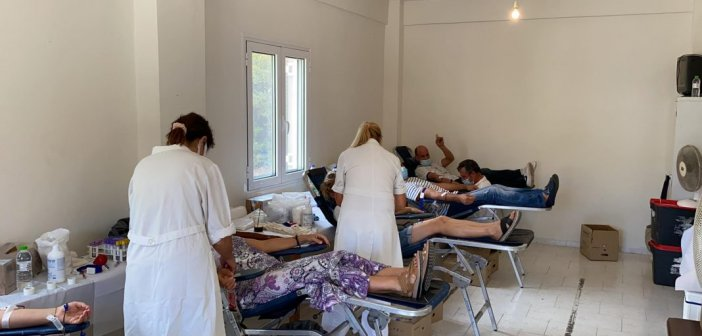 Μεγάλη συμμετοχή στην εθελοντική αιμοδοσία στο Τρίκορφο Ναυπακτίας