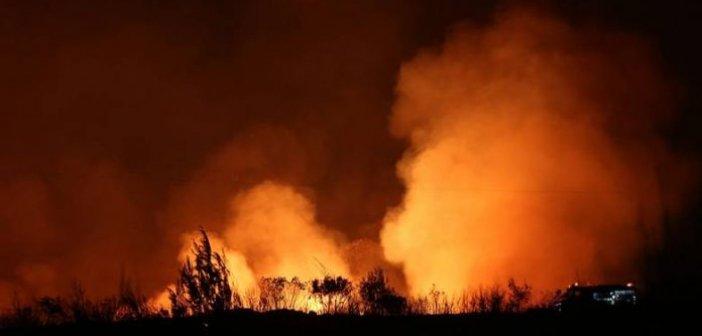 Κινητοποίηση για φωτιά κοντά στη γέφυρα Μπανιά
