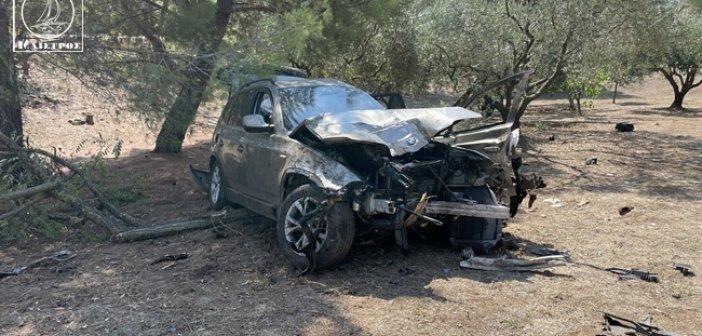 Σαρδίνια Αμφιλοχίας: Καταστράφηκε ολοσχερώς το αυτοκίνητο γλίτωσε με τραύμα στο πόδι ο οδηγός (εικόνες – βίντεο)